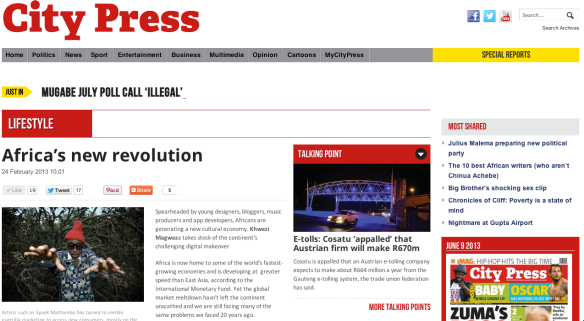 City Press Africa's New Revolution