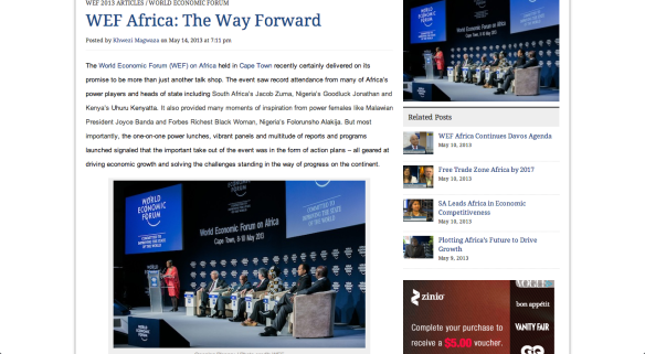 WEF Africa the way forward
